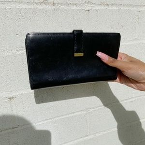 Vintage 1990s Coach clutch black genuine leather